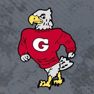 Tuffy the Eagle with gray background